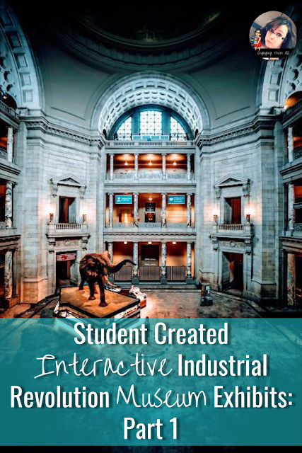 Have your students create an interactive Industrial Revolution Museum Exhibit with technology tools! #industrialrevolution #activities #technologyintheclassroom #middleschool