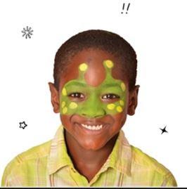 maquillaje de Alien para niño