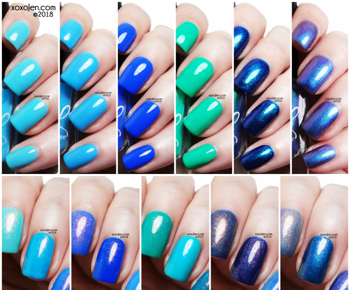 xoxoJen's swatch of Colors By Llarowe Let's Head to the Beach