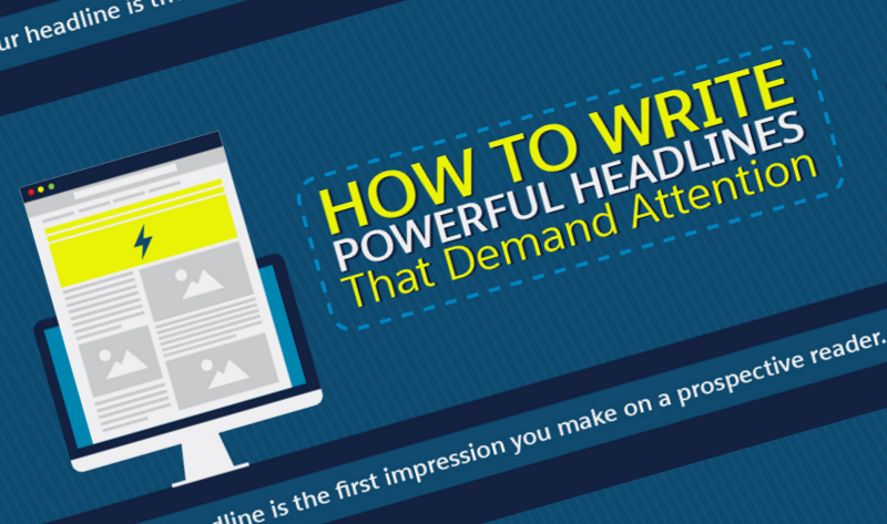 The Art of Writing Catchy Headlines - infographic