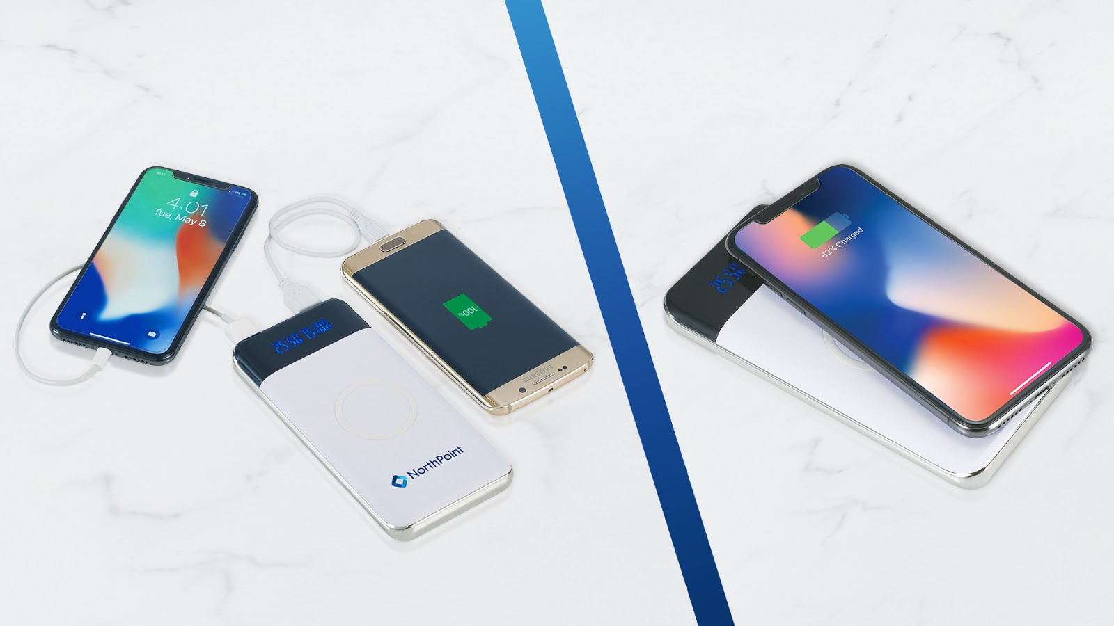 Constant Wireless Power Bank With Display