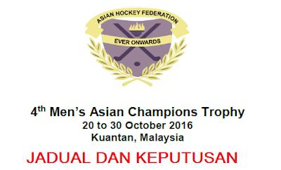 jadual Hoki Trofi Juara-Juara Asia 2016