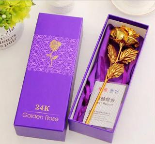 Hoa hồng dát vàng, bông hồng vàng 24K giá rẻ