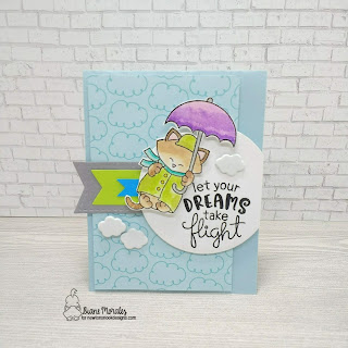 Let Your Dreams Take Flight a card by Diane Morales| Newton dreams of London and Uplifting Wisheds Stamp Set by Newtons Nook Designs