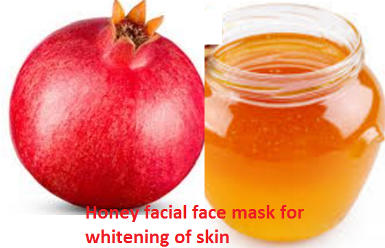 Pomegranate and Honey facial face mask for whitening of skin