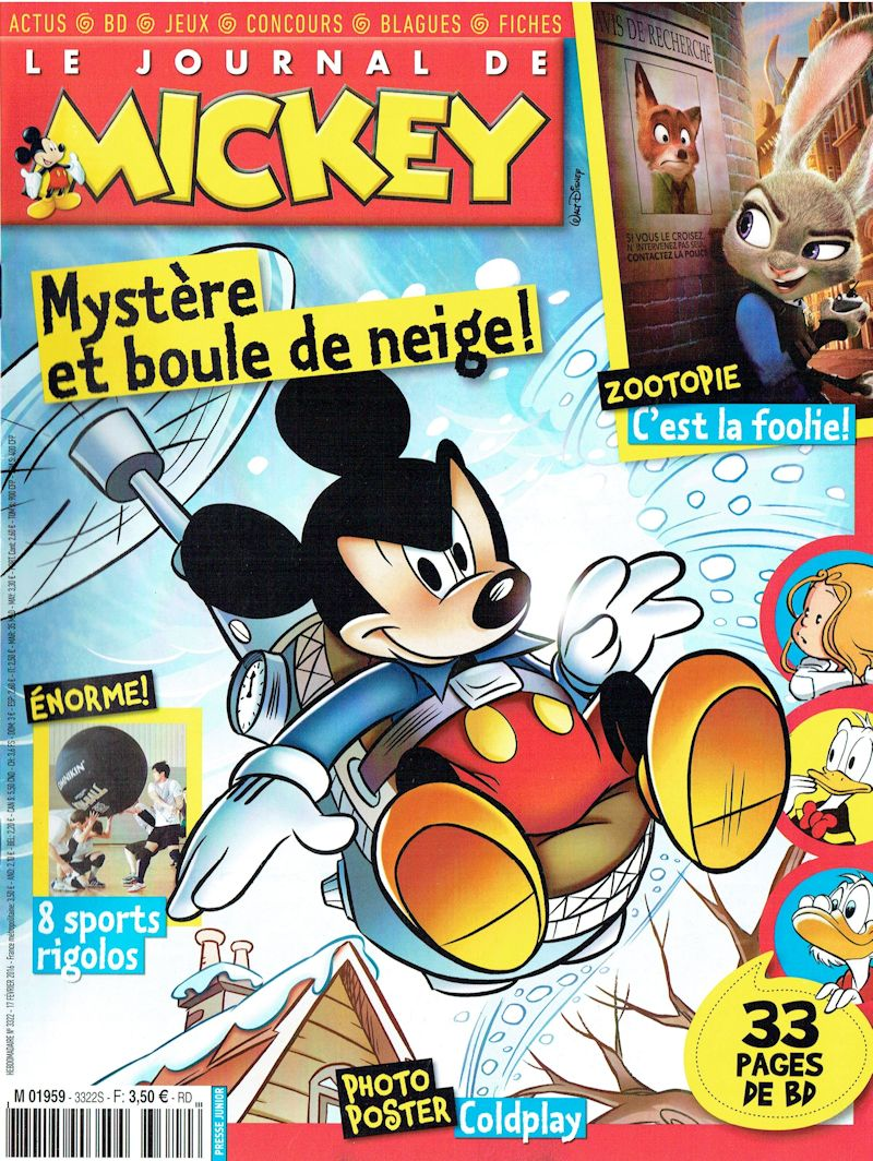 le journal de mickey journal de mickey 3322. Black Bedroom Furniture Sets. Home Design Ideas