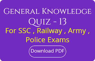 General Knowledge Quiz - 13