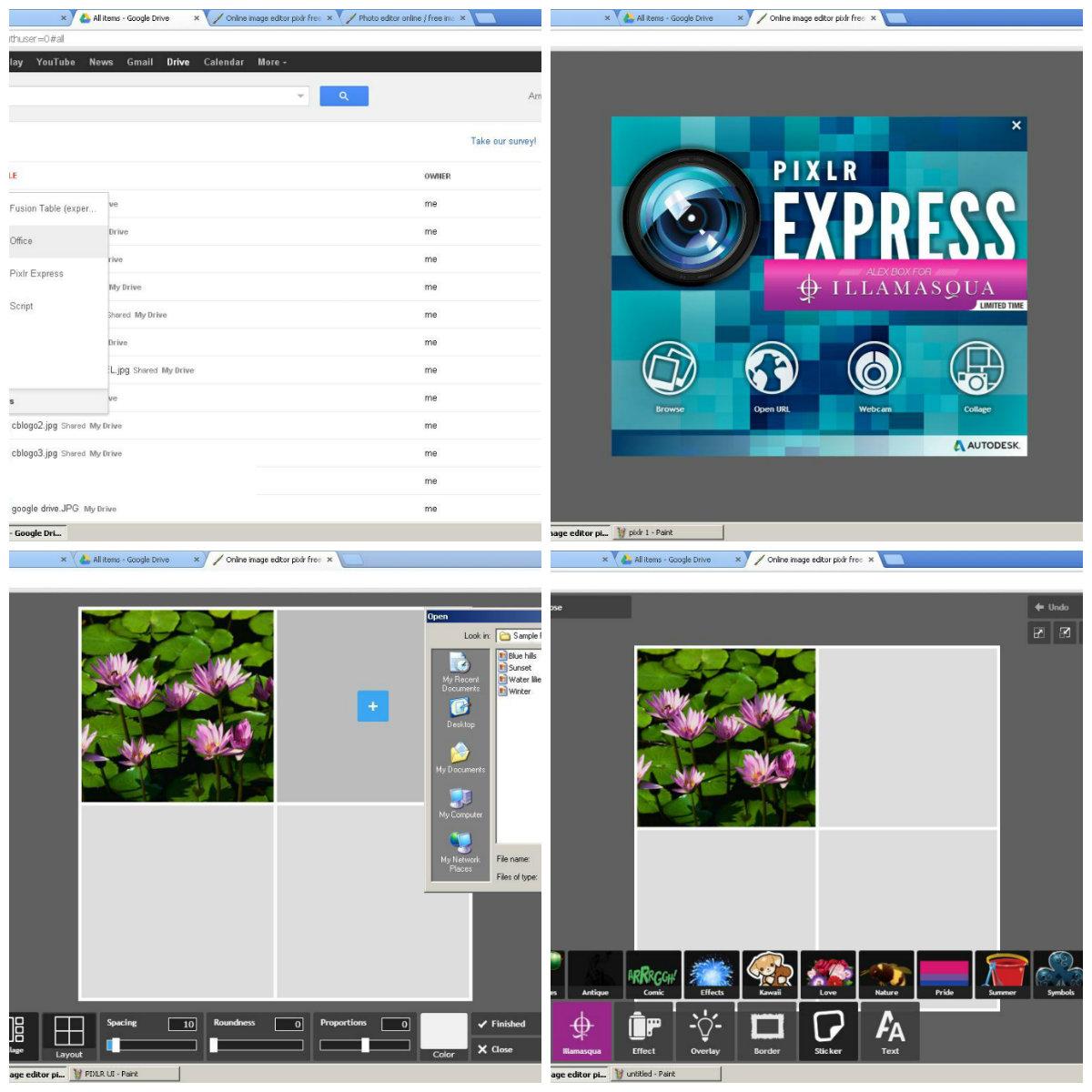 Use Pixlr Express Photo Editor Using Google Docs