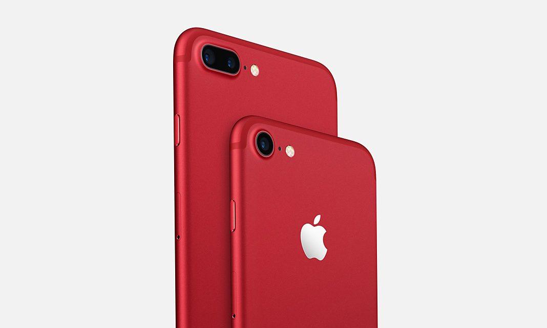 iPhone 7 na cor vermelha