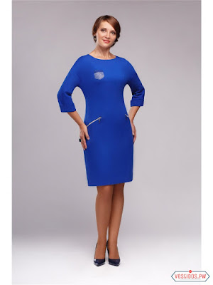 Vestidos de noche cortos color azul electrico