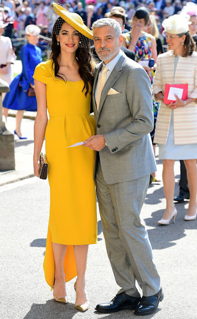 Amal Clooney at Prince Harry and Meghan Markle Wedding
