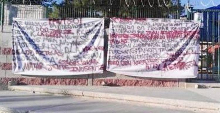 Dejan narcomantas amenazando a extorsiones en la Anapra de Cd. Juárez Chihuahua.