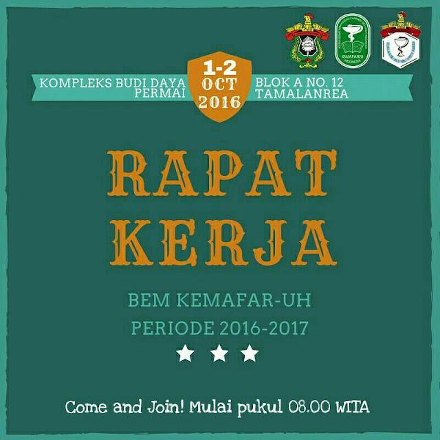 Rapat Kerja BEM KEMAFAR-UH Periode 2016/2017