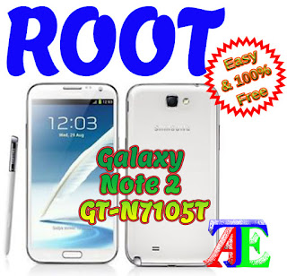 Root Galaxy Note 2 GT-N7105T Kitkat