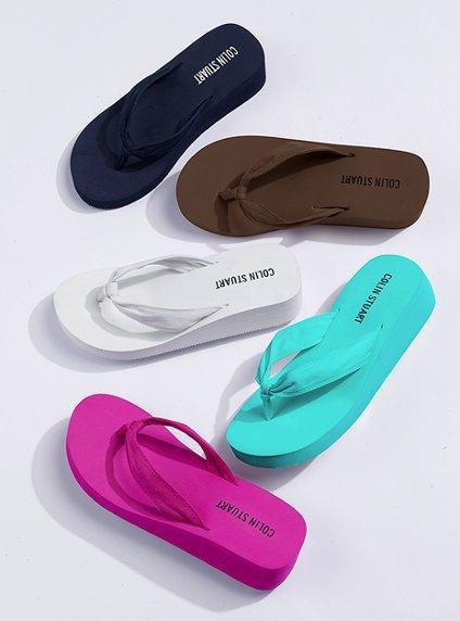 Fuschia Flip Flops