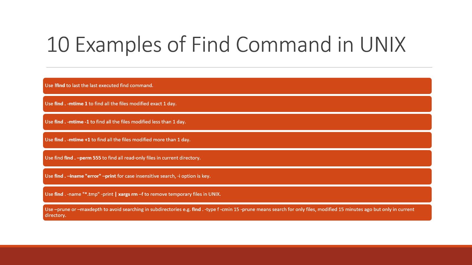 10 Example Of Find Command In Unix And Linux