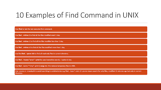 10 Examples of find command in UNIX