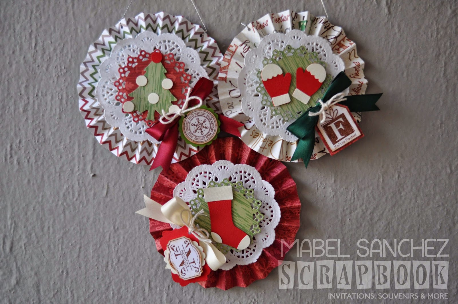 Stamping paper adornos navide os for Adornos navidenos sencillos