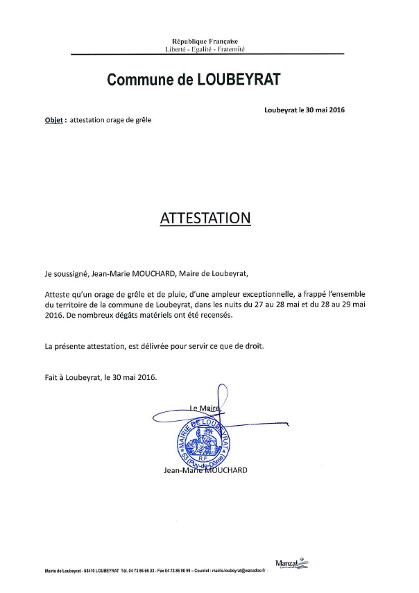 Modele attestation intemperies document online - Attestation de porte fort modele lettre ...