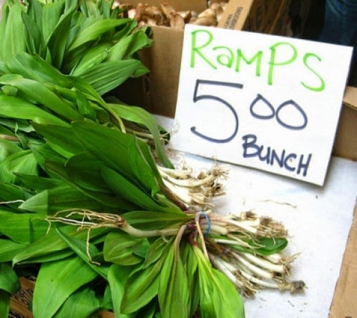 Ramps at 5 Dollars a Bunch
