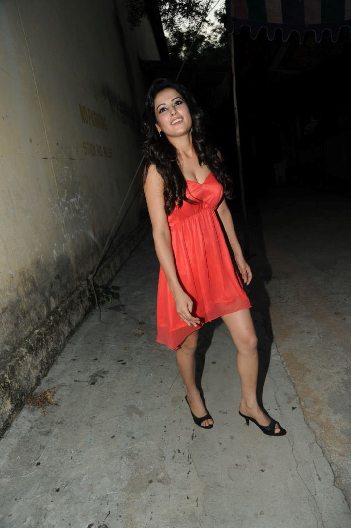 Disha Pandey in Hot red sleeveless lingerie look like a babydoll