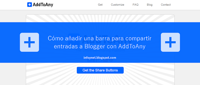 Cómo añadir una barra para compartir entradas a Blogger con Add To Any
