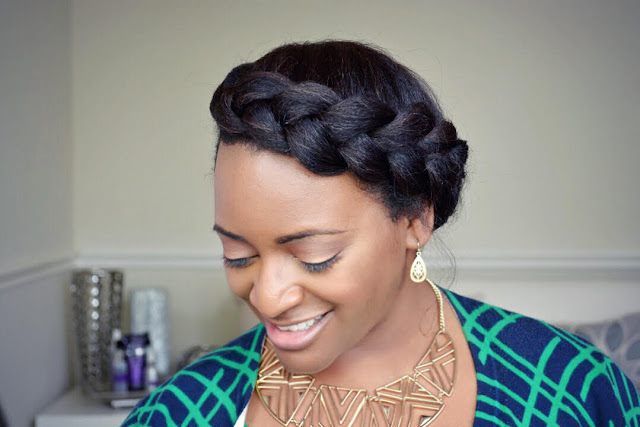 Quick & Easy Crown Braid Tutorial For Natural Hair