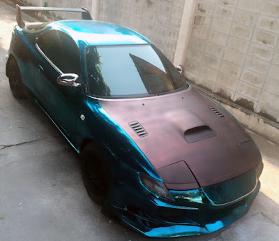 1993 Toyota Celica Pop-Up to spray on chrome the blue ocen style.