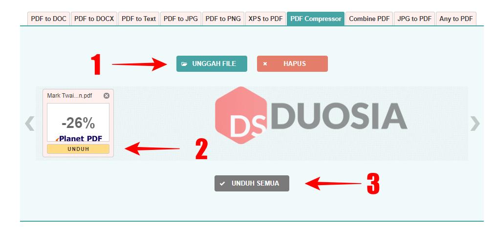 cara kompres pdf online tercepat