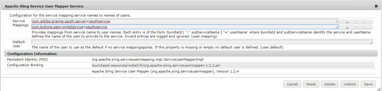 Creating an System User in AEM