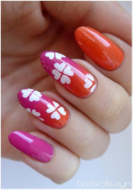 Pomarańczowo różowy gradient
