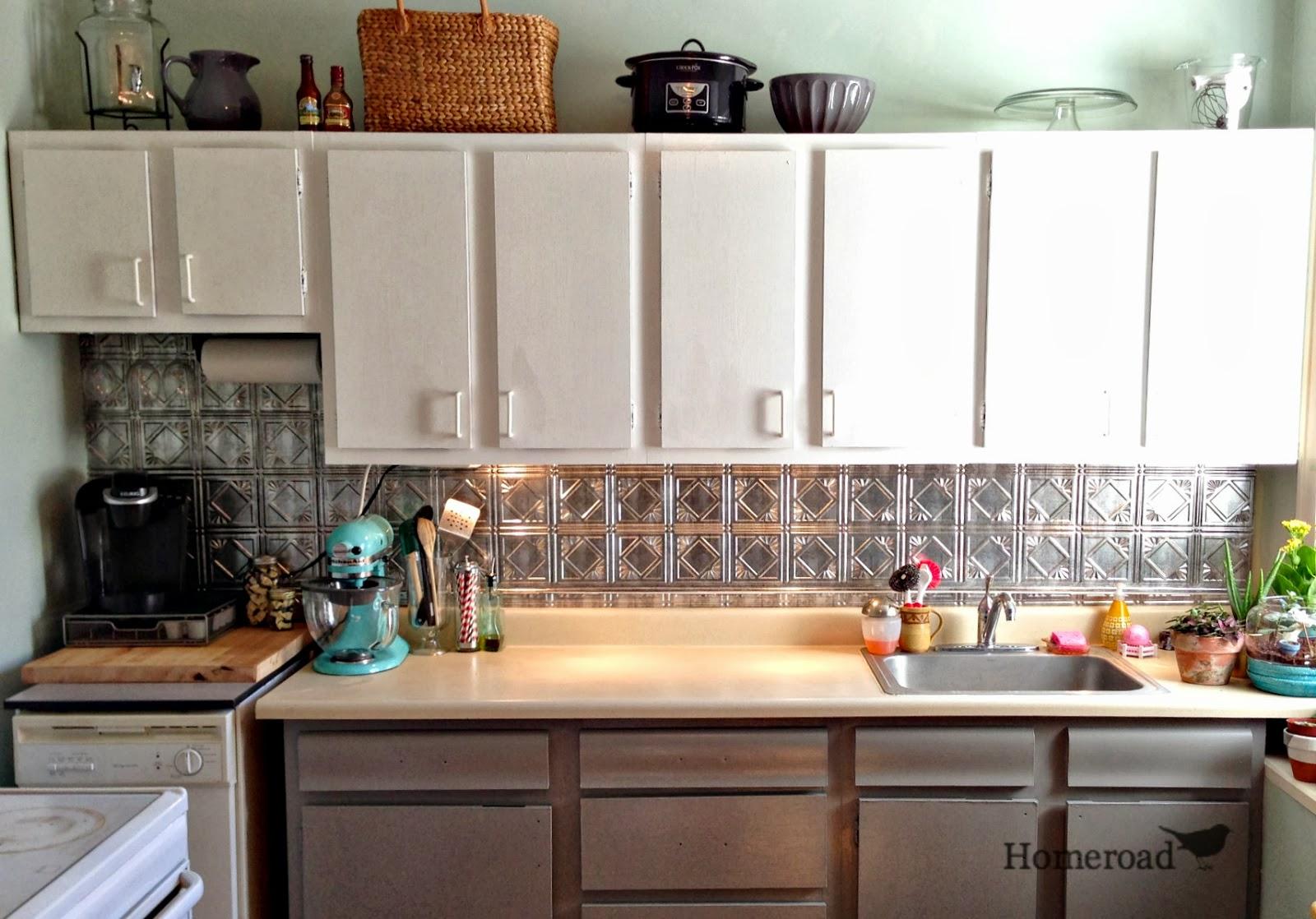 Kitchen tin ceiling backsplash tutorial www homeroad net