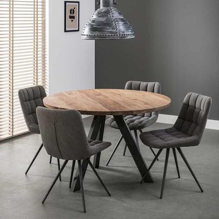 mesa de madeira redonda tripé