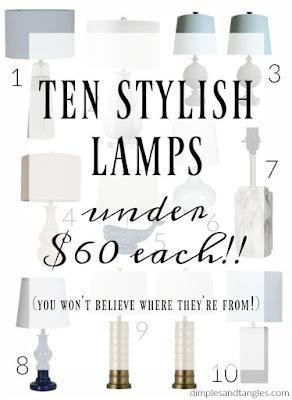 lamps, lighting, budget lighting, walmart, home decor