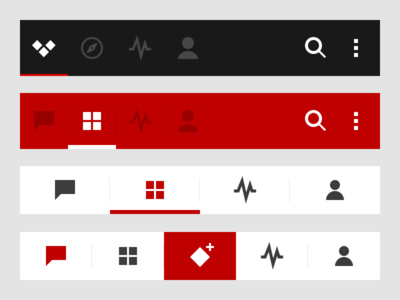 Action Bar vs. Tab Bar- Android tabs ui design