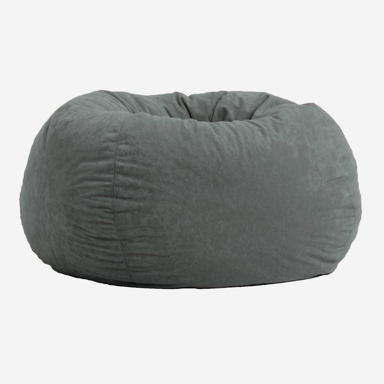 omfort Research Classic Bean Bag in Comfort Suede, Steel Grey