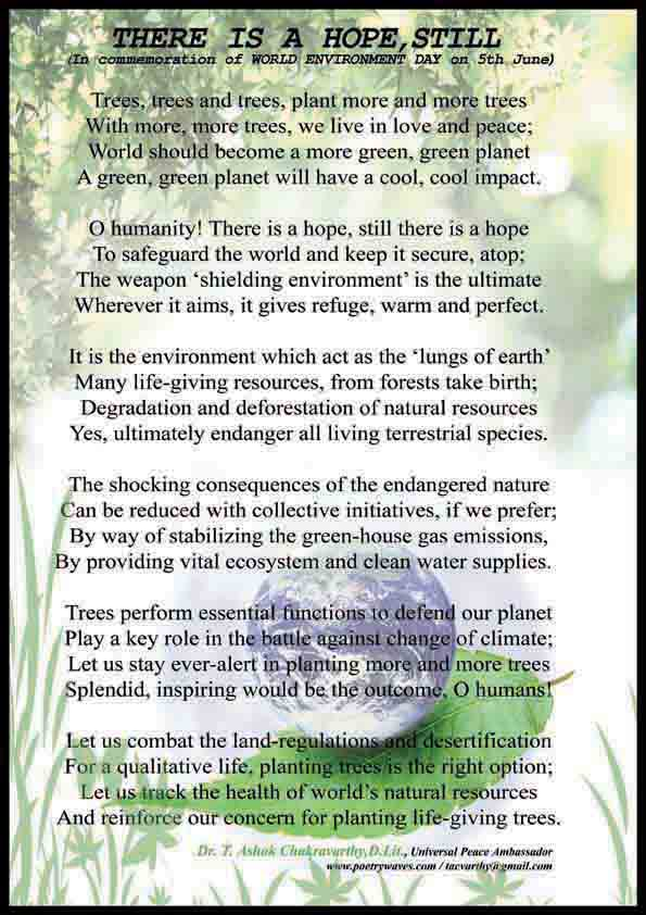 Pjs Poem For World Environment Day 5th June
