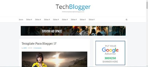 TechBlogger um modelo de Blogger 100% Responsivo