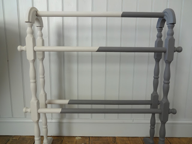 black and white towel rail