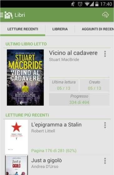 migliore applicazione di lettura disponibile per Android