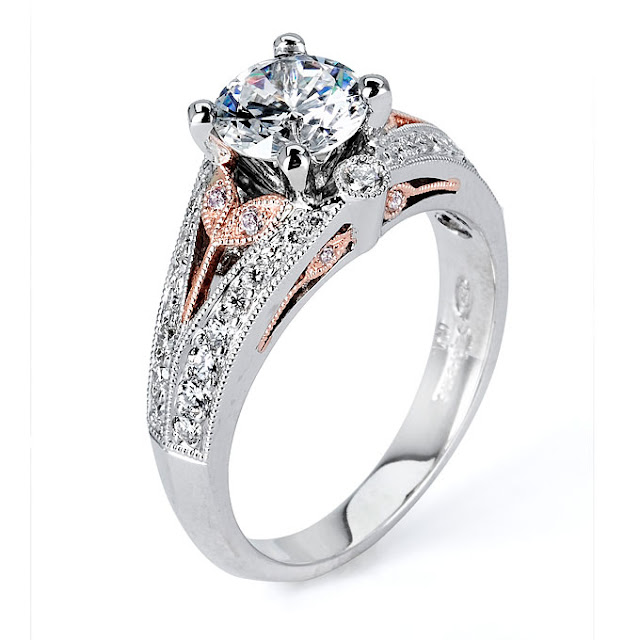 Wedding Rings With Rose Gold And White Gold