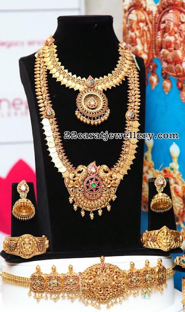 Kasu Mala Necklace Waistbelt by Manepally