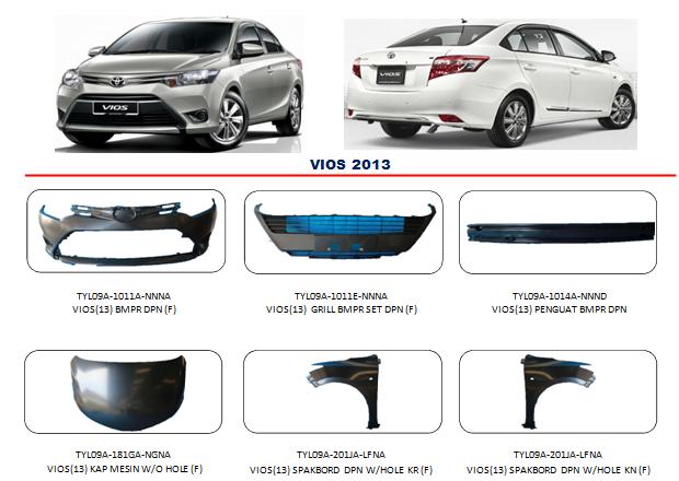 Bodypart Toyota Vios 2013