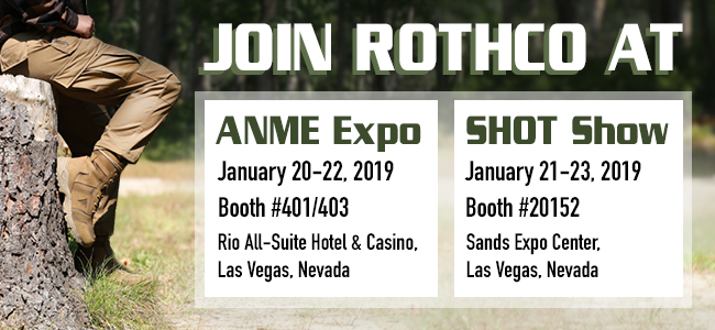 Come See Rothco at the ANME & SHOT Shows!