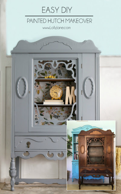 Painted Hutch Makeover