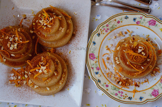Sweet Semolina Halva with Honey