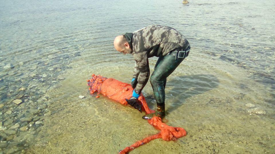 Έσωσε φώκια που είχε μπλεχτεί ολόκληρη σε δίχτυα (φωτο)