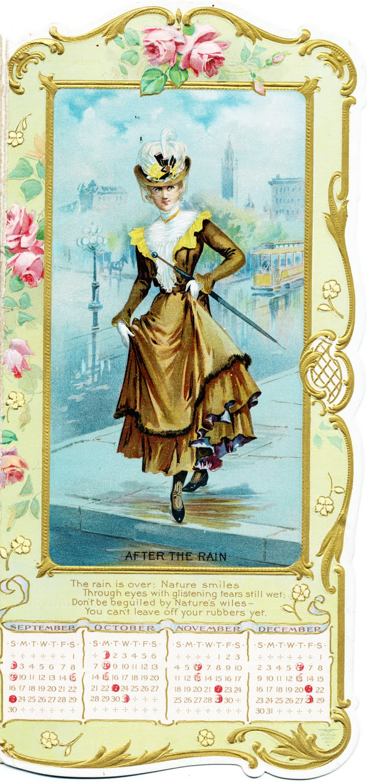 Collage Candy Advertising Calendar From 1900