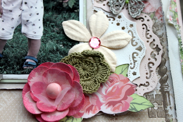 Memory Scrapbook Page by Ulrika Wandler using BoBunny Sweet Soiree Collection