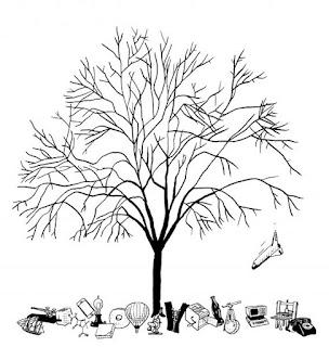 Representación de un simbólico «árbol de de las ideas» yermo
